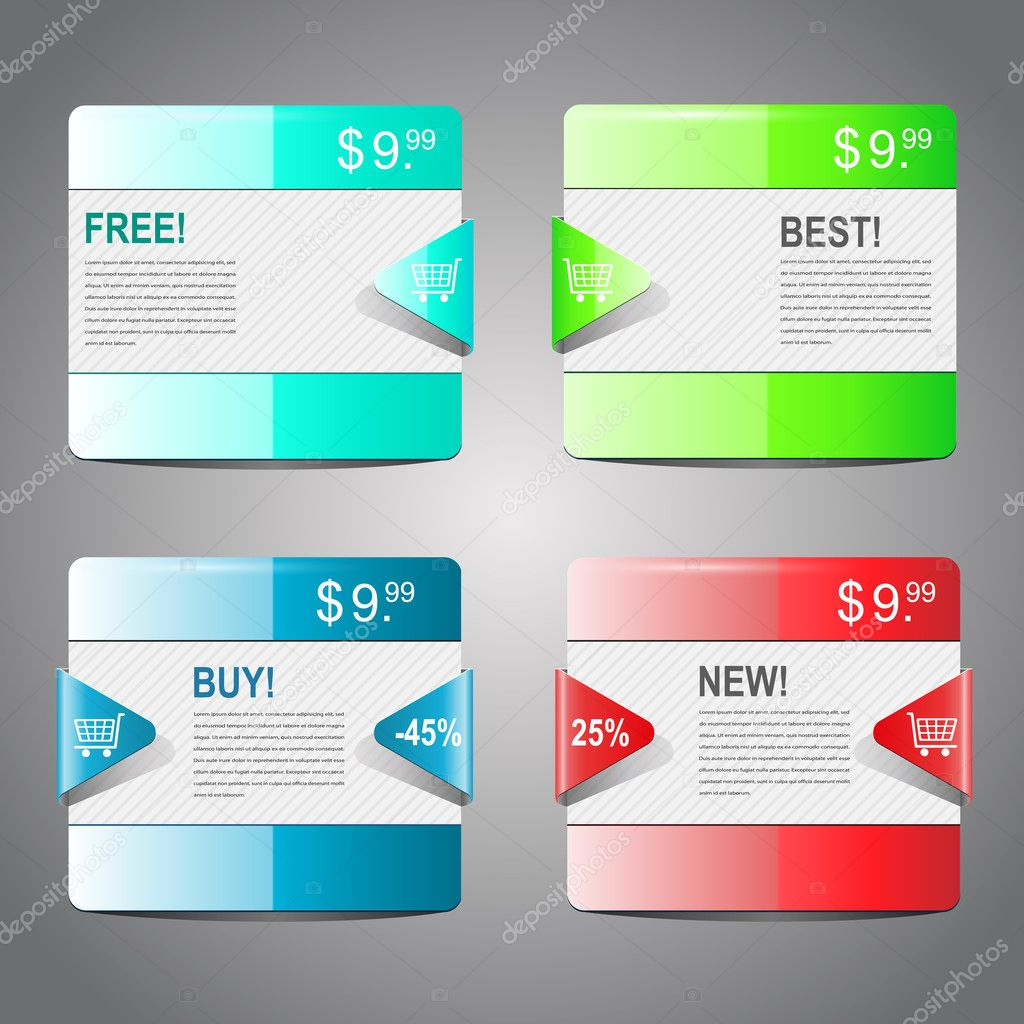 Vector collection of sale banners  Stock Vector #5677100