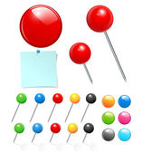 Push pin kolekce — Stock vektor