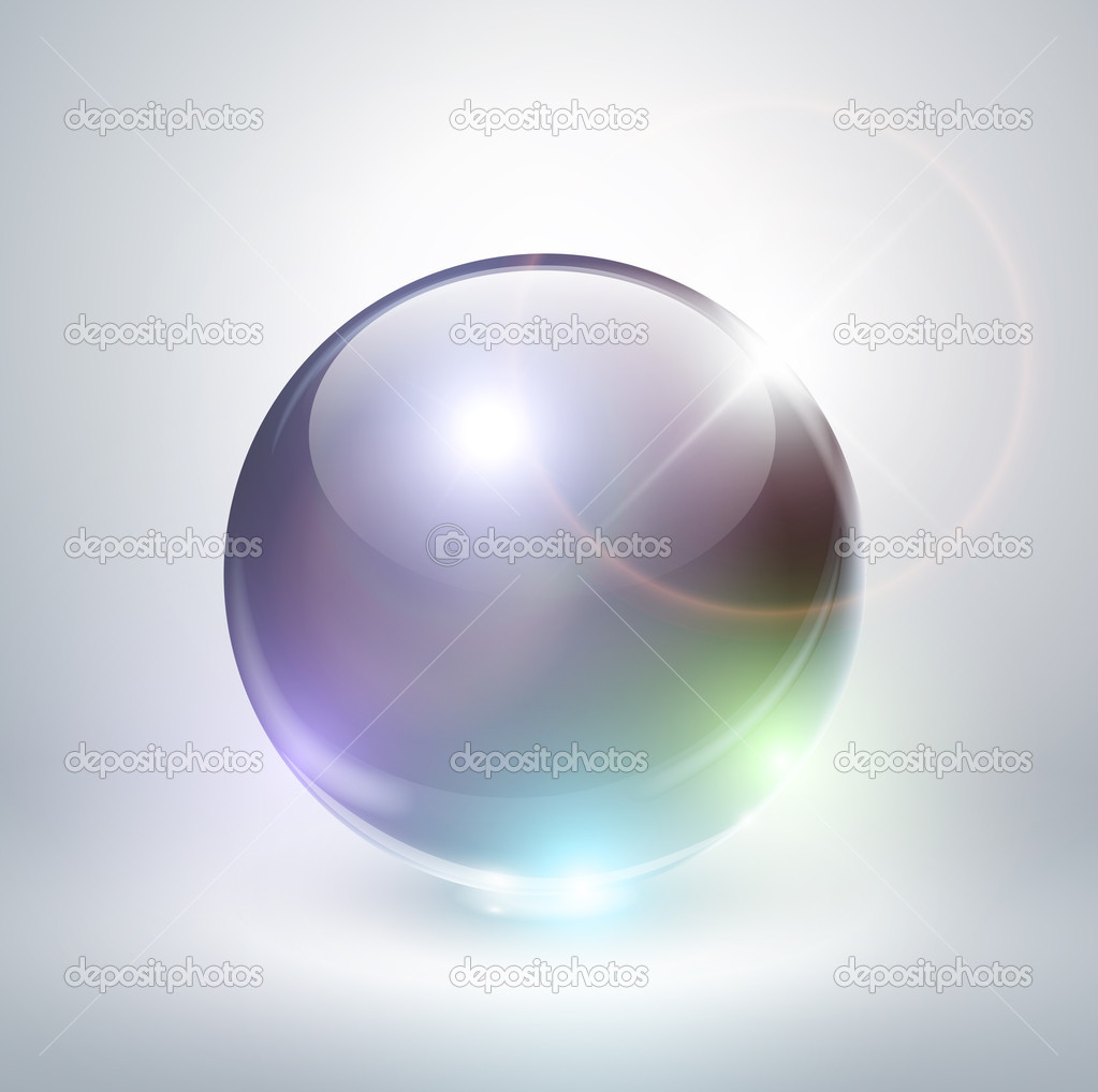 Abstract background with crystal sphere, vector illustration. — Stock Vector #5955549