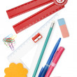 Back to school objects — Stok fotoğraf
