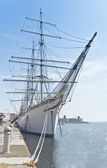 Three masted ship — Stock Photo