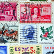 Collection of postage stamps from the USA — Stock Photo #6312743