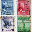 Collection of postage stamps from the USA — Stock Photo #6312744