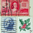 Collection of postage stamps from the USA — Stock Photo #6312748