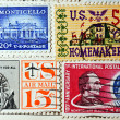 Collection of postage stamps from the USA — Stock Photo #6312751