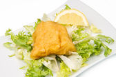 Fried cod fish — Stock Photo