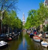Canal de amsterdam — Foto de Stock