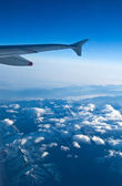 View from the aeroplane window — Stock Photo