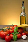 Spaghetti ingredients — Stock Photo