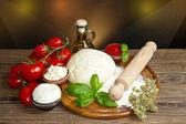 Pizza ingredients — Stock Photo