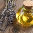 Stock Photo: Lavander oil