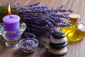 Lavender and stones — Stock Photo