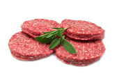 Raw hamburger — Stock Photo