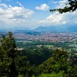 Stock Photo: City of Turin skyline panorama seen from the hill