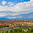Royalty-Free Stock Photo: City of Turin  skyline panorama seen from the hill