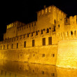 Stock Photo: Castle of Rocco Santivale di Fontanellato on night