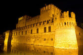 Castle of Rocco Santivale di Fontanellato on night — Stock Photo