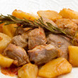 Meat stew with potato — Stock Photo