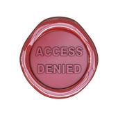 сургучная печать с доступом отказано текста — Стоковое фото
