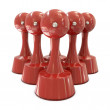 Stampers red cylindrical in group — Foto Stock