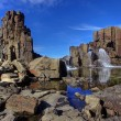 Basalt walls and columns - Stock Photo