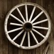 Rustic wagon wheel — Stock Photo #5959715