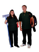 Couple of cleaners — Stock Photo