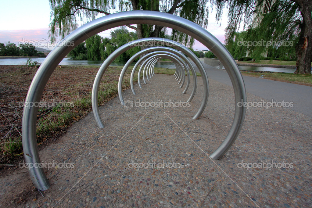 Bike rack in canberra — Stock Photo #5956876