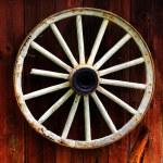 Rustic wagon wheel — Stock Photo #5965041