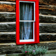 Log shack With Window — Stock Photo