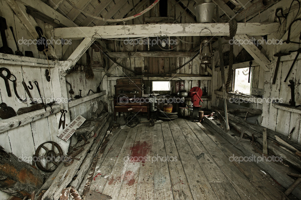Inside of a heritage tool shed  — Stock Photo #5964914