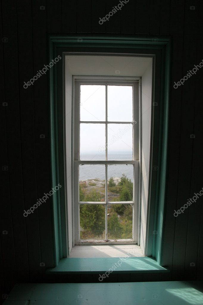 Interior of a Canadian heritage lighthouse — Stock Photo #5968113