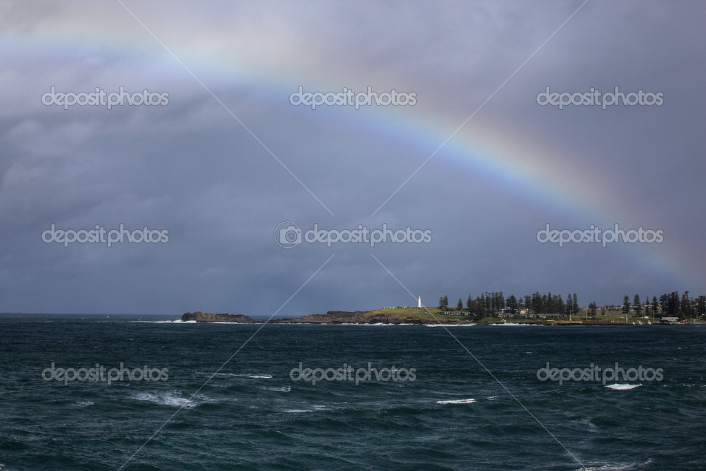 Rainbow over the ocean landscape — Stock Photo #5968576