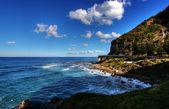 海の崖の橋 — ストック写真