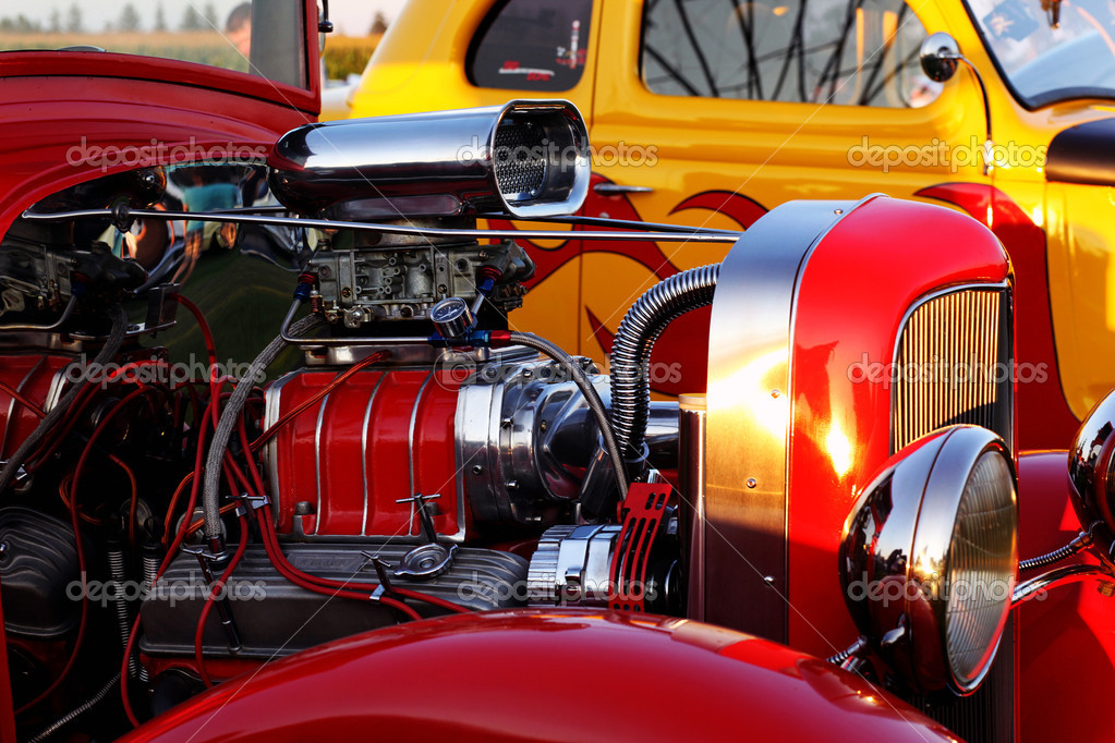 Closeup of a classic vintage car — Stock Photo #5977127