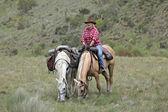 Female horse rider — Стоковое фото
