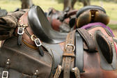 Horse saddle — Stock Photo