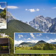 Postcard from Slovenia mountains — Stock Photo
