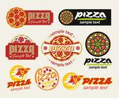 Jeu de pizza — Photo