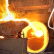 Stock Photo: Pouring molten steel