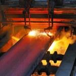 taglio di gas del metallo caldo — Foto Stock