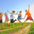 Stock Photo: Jumping kids