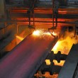 Gas cutting of the hot metal - Foto de Stock  
