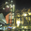Steel plant at night -  