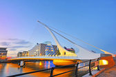 THE SAMUEL BECKETT BRIDGE — Stock Photo