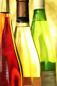 Still-life with wine bottles — Stock Photo