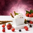 Ice Cream with Berries — Stock Photo