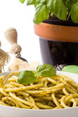 Pasta with Pesto — Stock Photo