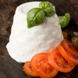 Ricotta Cheese with Tomatoes — Stock Photo