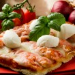 Pizza with Buffalo Mozzarella - Stock Photo